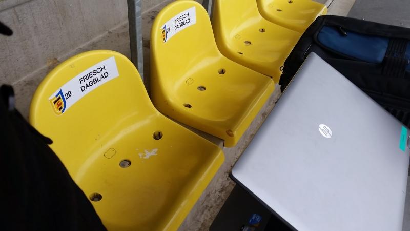 Persplaatsen in stadion Cambuur