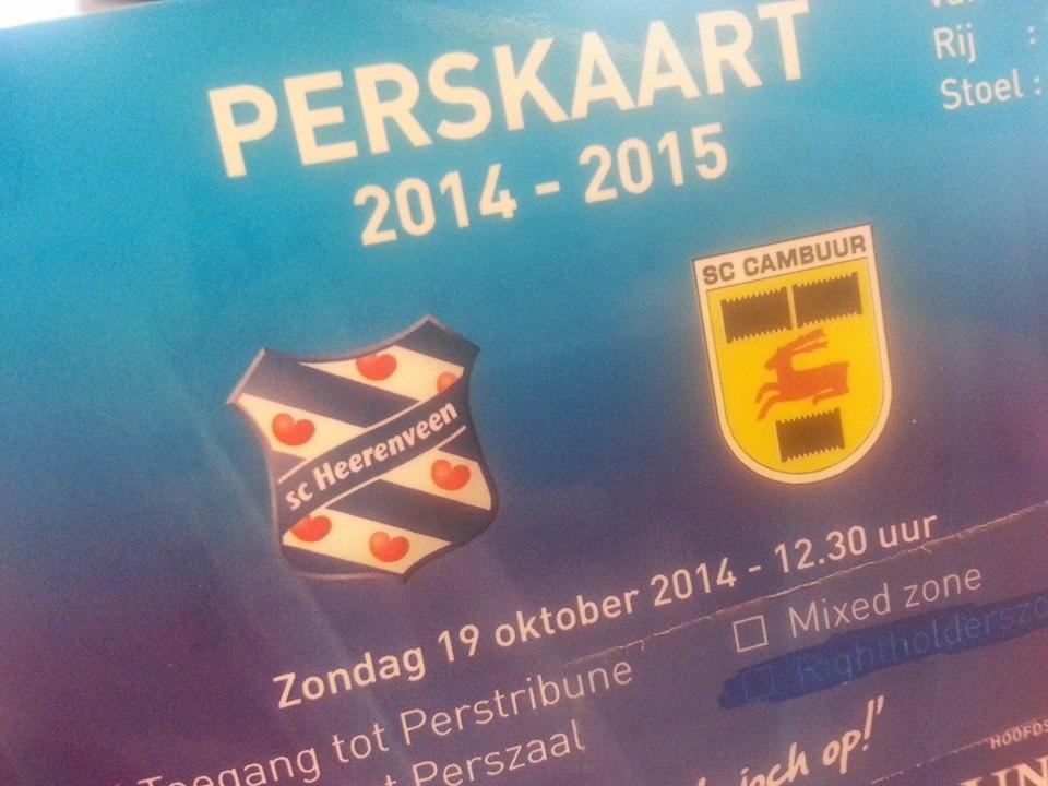 Friese derby 2014-2015 Heerenveen - Cambuur 2