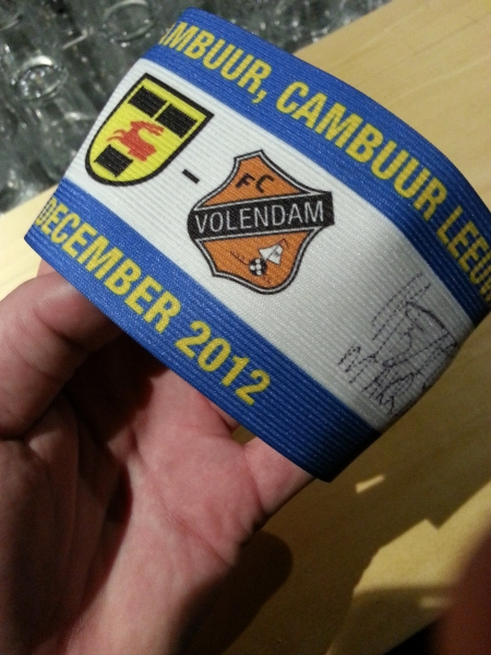 Aanvoerdersband El Makrini na Cambuur - FC Volendam, december 2012