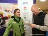 Marrit Leenstra en sportjournalist Gerard Bos, interview Friesch Dagblad