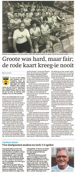 Serie 50 Jaar Cambuur Decennium 2 Johan Groote De Man Die Nooit Rood Kreeg