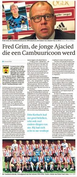 blog Serie Cambuur 50 jaar deel 3 Fred Grim