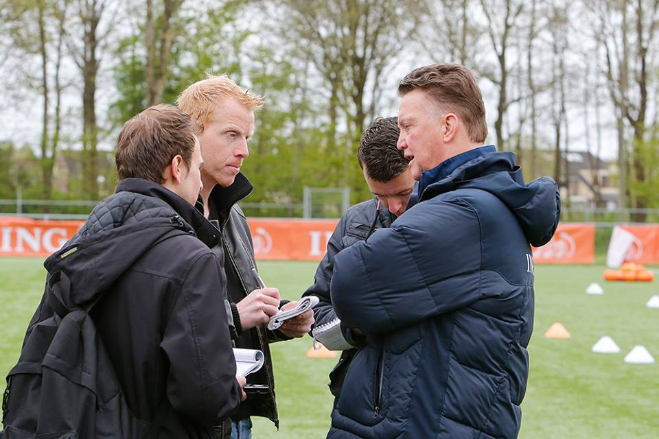 met Louis van Gaal 19 april 2014