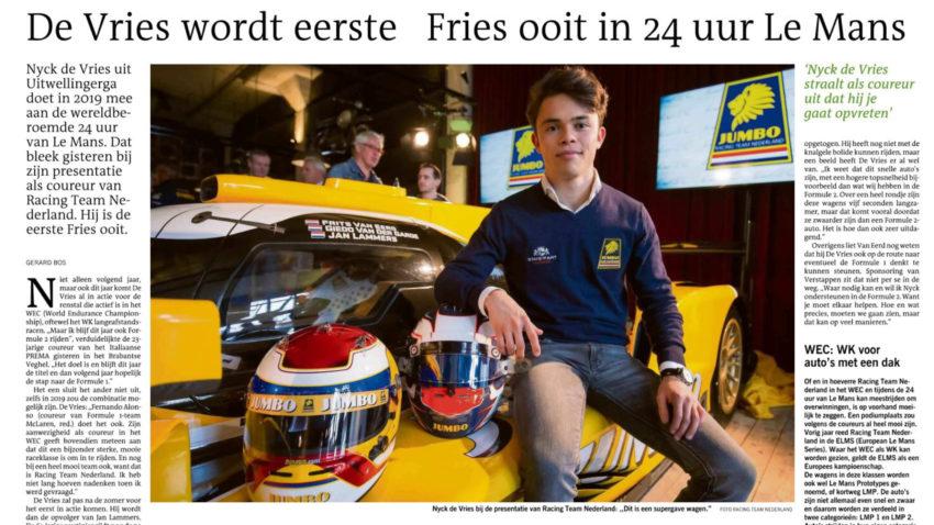 LC-Gerard Bos-Nyck de Vries RacingTeamNederland